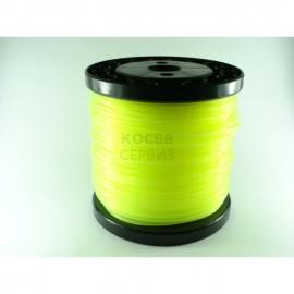 Корда за косене 2,7 мм. жълта обла / 78.50м.